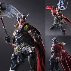 Play Arts Kai Thor Marvel Variant Action Figure Square Enix  PRE-ORDER