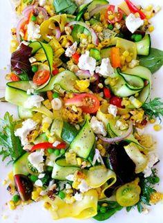 summer salad...i'd use feta