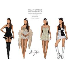 Ariana Grande's Honeymoon Tour See Exclusive Costume Sketches ❤ liked on Polyvore featuring ariana grande and dessin