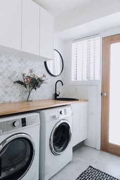 Laundry Room Inspiration, Home Appliances, House, Furniture, Design, Style, House Appliances, Swag, Home