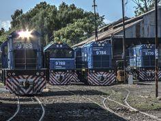 https://flic.kr/p/25Bt8gV | Locomotoras en el playa de cargas de Saldías | Al lado de la estación homónima, de la línea Belgrano Norte