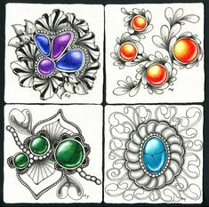 Zentangle Jewels & Gems Meredith Yuhas The Inspiration Station, CT