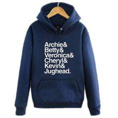 Riverdale characters hoodie for men xxxl fleece pullover