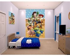Toy story wall mural! Includes Buzz, Woody, Jessie and all your favourites! Available at www.middletonwood.co.uk
