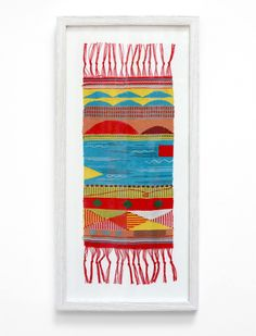Map Tapestries mini series by Hannah Waldron - very Bauhaus-like