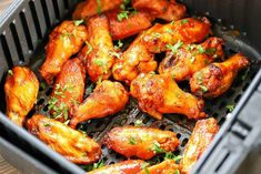 If you love chicken wings, you have to try this Air Fryer Chicken Wings Recipe! This will be your new, go-to, favorite wing recipe from now on! They're healthier, easy to make and only THREE ingredients needed! Chicken Recipes Video, Healthy Chicken Recipes, Oven Recipes, Air Fryer Chicken Wings, Nyc, Easy Healthy Breakfast, Air Fryer Recipes, Healthy Dinner Recipes, Easy Meals