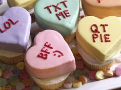 Of course, the hearts themselves are the kind of processed Little Debbie cakes…
