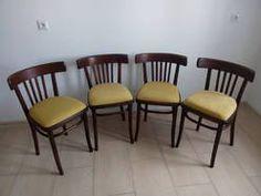 THONET-Cztery gięte krzesła typu Thonet  Vintage Retro Loft