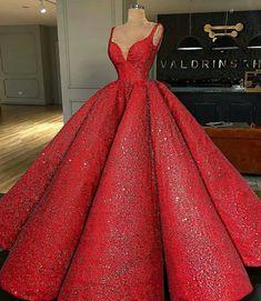 Luxus Rot Super A-Linie Langes Abendkleid V-Ausschnitt Abendkleid Hochzeitskleid Sequin Prom Dresses, Ball Gown Dresses, Pageant Dresses, Quinceanera Dresses, Homecoming Dresses, 15 Dresses, Grad Dresses, Red Ball Gowns, Ball Gowns Prom