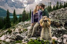 Recently, couple Kelin Flanagan and Spencer Taubner set out to the Canadian Rockies with B.D.F.K Photography for a romantic engagement photoshoot, but it didn't turn out as expected...
