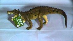 A review of the prehistoric crocodile model from Safari Ltd (Kaprosuchus reviewed by Everything Dinosaur). Prehistoric Animals, Plastic Animals, Crocodiles, Crocs, Safari, Model, Dragon, Comic, Sculpture