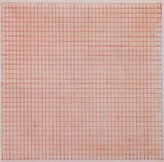 vervediary: Untitled Agnes Martin 1963 Red ink (via bmasiac) Agnes Martin, Abstract Painters, Textiles, Pink Love, Pale Pink, Art Plastique, Contemporary Art, Modern Art, Illustration