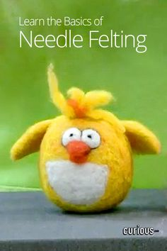 Needle Felting Basic Building Blocks- I will learn how to do this! Great instructional videos too :)