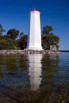 Presqu'ile Light - Built 1840 / East end of the point south of Brighton, Ontario Lighthouse Lighting, Lighthouse Photos, Brighton, Ontario Parks, Discover Canada, Retirement Ideas, Light Building, Small Town Girl, Family Trees