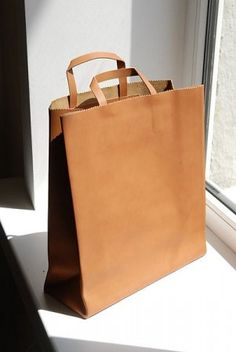 "leather ""paper"" bag by antiatoms (via http://missmossblog.tumblr ..."