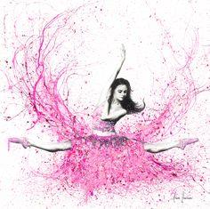 Blossom Ballet Canvas Wall Art by Ashvin Harrison Art Ballet, Ballerina Painting, Ballerina Art, Ballet Dancers, Pink Painting, Ballerina Project, Ballet Drawings, Art Drawings, Dance Paintings