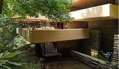 """Pool stairs - Wright's """"Fallingwater"""" - Bear Run, Pennsylvania"""