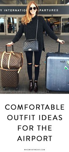 8e80ea362ae The Most Comfortable Clothes to Wear to the Airport. Airport Outfit Long FlightPlane  Travel ...