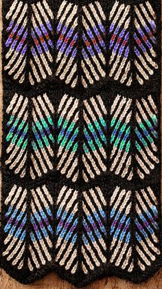 """""""Fair Isle Feathers"""" < A Pattern For The Ends Of A Plain Scarf - chart by Kieran Foley / KL"""