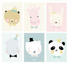 Eef Lillemor | Poster Happy Hippo | Eef Lillemor | LovelyLittleOne.com