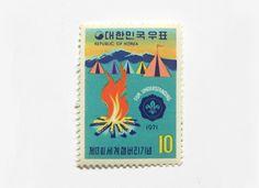 Vintage South Korea Stamps