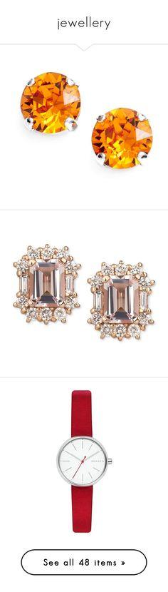 """""""jewellery"""" by scheherazadee ❤ liked on Polyvore featuring jewelry, earrings, accessories, stud earrings, earring jewelry, l. erickson, swarovski crystal stud earrings, crystal stud earrings, rose gold and 14k earrings"""