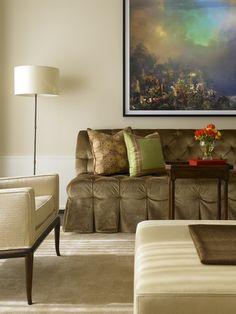 Chicago, Illinois Gold Coast Condominium  Living  Vignette  Eclectic  Transitional by Vincere, Ltd