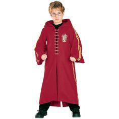 Disfraz niño de Quidditch, Harry Potter Fantástica túnica con capucha como la que lleva Harry Potter para jugar al Quidditch.
