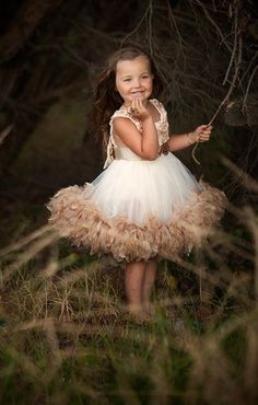"""Take a look at """"Vintage Bridal Dreams"""", one of Love Baby J's beautiful couture flower girl dresses."""