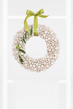 wood ball wreath