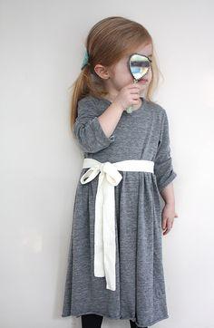 girls knit dress tutorial // via craftiness is not optional