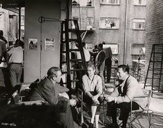 "On set meeting for the movie ""Rear Window""."