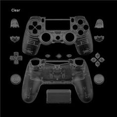 Matte Replacement shell and buttons mod kit For DualShock PlayStation 4 PS4 Controller + Gifts