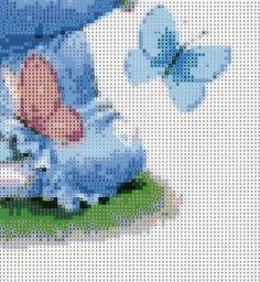 girl & blue butterfly - 4