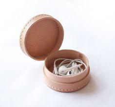 kleine runde Lederbox