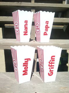 Personalized Popcorn Cups / Containers by TooCutePersonalized