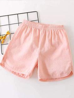 Toddler Girls Solid Elastic Waist Shorts – Kidenhouse