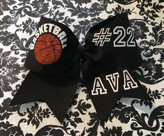 A personal favorite from my Etsy shop https://www.etsy.com/listing/256647256/custom-basketball-hairbow-name-number