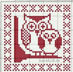 Cross Stitch Bird, Simple Cross Stitch, Cross Stitch Alphabet, Cross Stitching, Dishcloth Knitting Patterns, Knitting Charts, Crochet Patterns, Crochet Wall Hangings, Tapestry Crochet