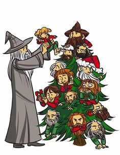 Merry CHRISTmas fellow Tolkien lovers! NORI IS THE STAR ON TOP HAHAHAHA THIS IS PERFECT