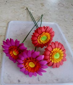 Hey, I found this really awesome Etsy listing at https://www.etsy.com/listing/229950305/handmade-paper-gerbera-daisy-flowers