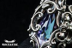 Fantasy gothique bague Vitrail clair par NocturneHandcrafts