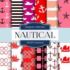 Nautical Digital Paper DP2319 - Digital Paper Shop - 1