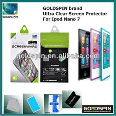 2013 NEW !! GOLDSPIN Ultra Clear Screen Protector For Ipod Nano 7 $0.08~$0.55