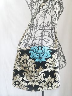Cross Body Bag, Across the Body Bag, Long Handle Purse, Shoulder Bag, Adjustable Strap Purse, Small Messenger Bag, #3002 by InStitchesCreations on Etsy