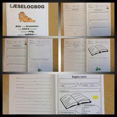 Læse-logbog / version 3 ... Med fokus på udvidet forståelse af en læst tekst / bog... Klassen elsker at bruge den - men de bruger også stadig version 1 og version 2....