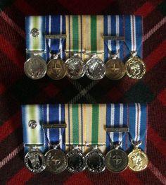 South Atlantic Medal with Rosette, Former Yugoslavia Medal, Iraq Reconstruction Service Medal, Afghanistan Civilian Service Medal, ISAF Medal, Queens Golden Jubilee Medal.