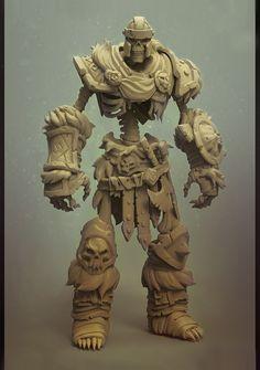 Skeleton warrior, Alex Malykhin on ArtStation at Zbrush Character, Character Modeling, 3d Character, Character Concept, Concept Art, 3d Modeling, Skeleton Warrior, 3d Figures, Action Figures