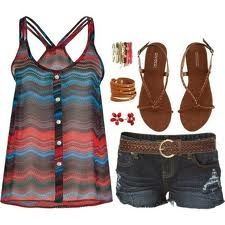 Hot summer outfit