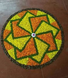 Decoration Indian Rangoli Designs, Simple Rangoli Designs Images, Rangoli Designs Latest, Rangoli Designs Flower, Rangoli Border Designs, Rangoli Ideas, Rangoli Designs With Dots, Flower Rangoli, Beautiful Rangoli Designs